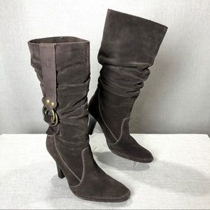 STEVEN by STEVE MADDEN Brown Suede Slouchy Boot